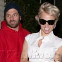 Pamela Anderson And Rick Salomon Do Dinner At Dominick's
