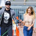 Brody Jenner Hobbles Along On Crutches With New Girlfriend And Dogs