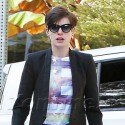 Anne Hathaway Spends The Day With Furry Friend