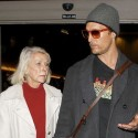 Matthew McConaughey Holds Hands With His Mom At LAX