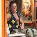 Mickey Rourke Goes To The Tattoo Parlor