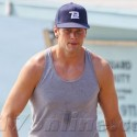 Tom Brady Works Out In A Tank Top On The Beach