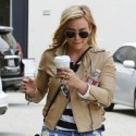 Hilary Duff Shows Off Her Legs During Coffee Run