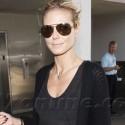 Heidi Klum Lands At LAX