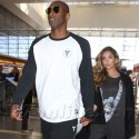Kobe Bryant And Wifey Leave L.A.