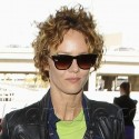 Vanessa Paradis Leaves LAX With Crazy Hair