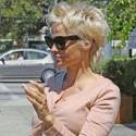 Pamela Anderson Channels Billy Idol With Her Hair