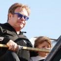 Elton John And Son Ride The Ferris Wheel