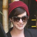 Anne Hathaway Beams After Leaving The Doctors Office