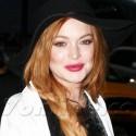 Lindsay Lohan Blows Kisses After Taping <em>Letterman</em>