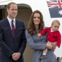 Kate Middleton, Prince William And Prince George Get Royal Send Off As They Depart Australia