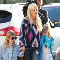 Tori Spelling And Her Kids Hit The Nail Salon