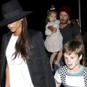 The Beckham Clan Touches Down In L.A.