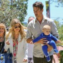 Fergie & Josh Take Axl To Church On Mother's Day