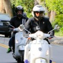 Gwyneth Paltrow And Chris Martin Take Vespas Around The Neighborhood