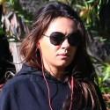 Pregnant Mila Kunis Walks The Dogs