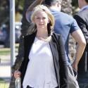 Jennifer Love Hewitt Goes For A Walk