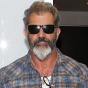 Mel Gibson Is In A Good Mood At LAX