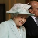 The Queen Of England Inspects Furniture In Northern Ireland