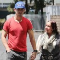 Shia LaBeouf Holds Hands With HIs Mom