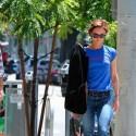 Vanessa Paradis And Boyfriend Go On A Walk