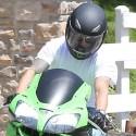 Casper Smart Leaves Jennifer Lopez's Home On His Motorcycle