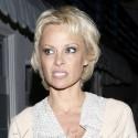 Pamela Anderson Make Funny Faces After A Fancy Dinner