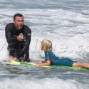 Liev Schreiber Surfs With His Sons On Father's Day