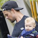 Fergie And Josh Duhamel Step Out With Baby Axl