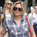 Hilary Duff Shops With Son Luca