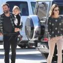 Alessandra Ambrosio And Her Husband Drop Their Son Off At School