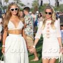 Paris And Nicky Hilton Have A Blast At Coachella
