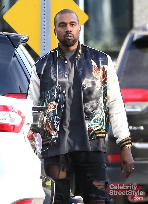 27264113286 Kanye West Hits The Streets In $2,690 Saint Laurent Bomber Jacket - Kanye  West Photos - X17 Online