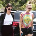 Kendall Jenner And Gigi Hadid Grab Lunch At Fred Segal In West Hollywood