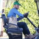 Chris Martin Hits The Market In His Golf Cart