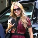 Paris Hilton Shops At Barneys With Her New Puppy In Tow