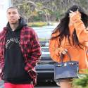 Kylie And Tyga Whip Around Town In A Bright Yellow Ferrari