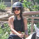 Vanessa Hudgens Went To Town, Riding On A Pony