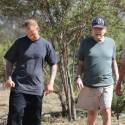 Poor Ryan O'Neal! The Actor Looks Incredibly Frail As He Takes A Walk With Son Redmond
