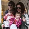 Ronnie Wood Takes A Stroll In Paris With His Wife And Twin Daughters