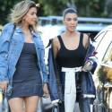 Kourtney Kardashian And Larsa Pippen Get All Dolled Up For A Java Run