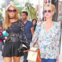 Paris And Nicky Reunite For A Beverly Hills Shopping Trip
