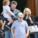 Gwen And Blake Spend Easter Sunday At Church With Her Boys