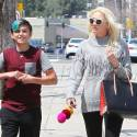 Gwen Stefani Hits The Nail Salon With Son Kingston