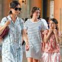 Katie Holmes And Daughter Suri Visit The Louvre In Paris