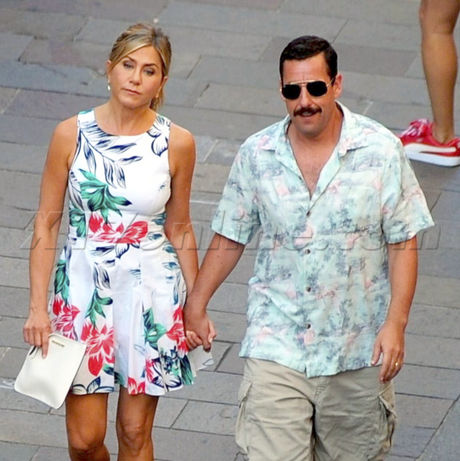Jen Aniston And Adam Sandler Film Their Netflix Movie Murder