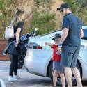Chris Pratt And Katherine Schwarzenegger Grab Sushi At Nobu Malibu With His Son Jack