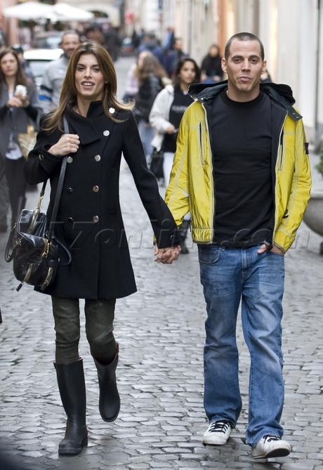 Elisebetta Canalis, Steve-O Rome Italy lovebirds