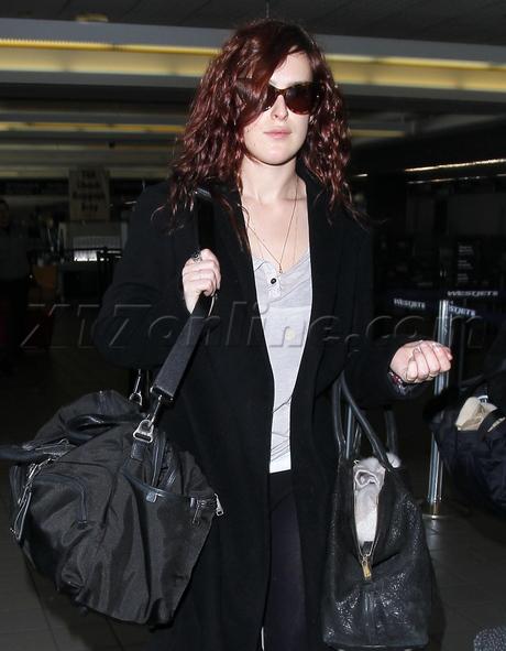 sunglasses lax purse boots Rumer Willis demi moore rehab luggage