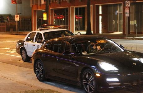 Lindsay Lohan porsche sunset blvd police cops